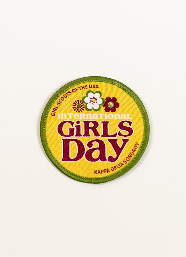 Initiatives,Girl Scouts - Round International Girls Day Patch